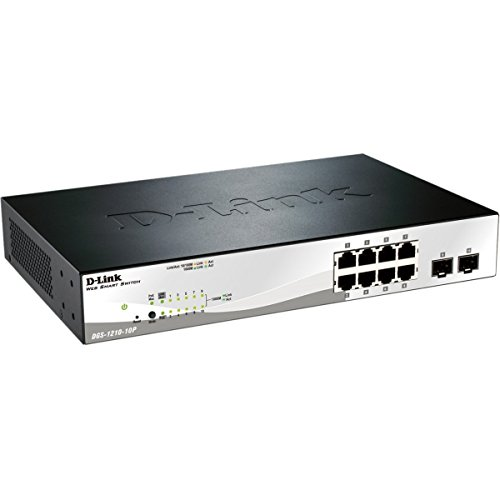 D-LINK SYSTEMS DGS-1210-10P 10-PORT POE GIGABIT WEBSMART SWITCH, INCLUDING 2 GIGABIT COMBO B DGS-1210-10P-d-link-10-port-gigabit-poe-smart-switch.-link-10-port