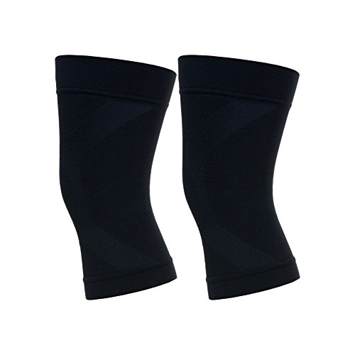 CompressionZ Knee Sleeve (Pair) - Best Compression Knee Brace for Running, Crossfit, Workout,...