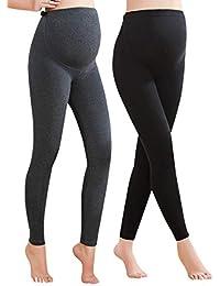 Women's Maternity Leggings Comfortable Maternity Cotton...