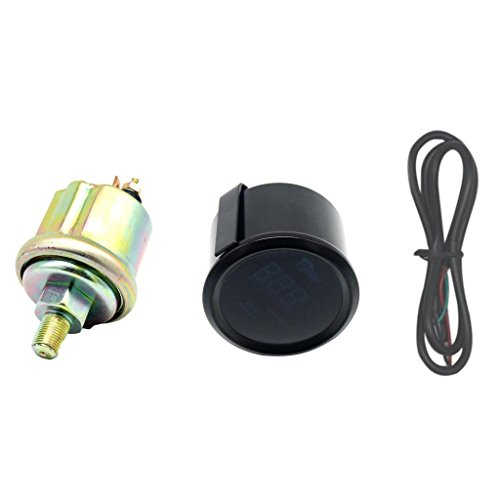 Fuel Gauge 2' (Dolity 2'' (52mm) Automobile Fuel Press / Oil Pressure Digital Gauge 0-120PSI Red LED Auto Car Meter)
