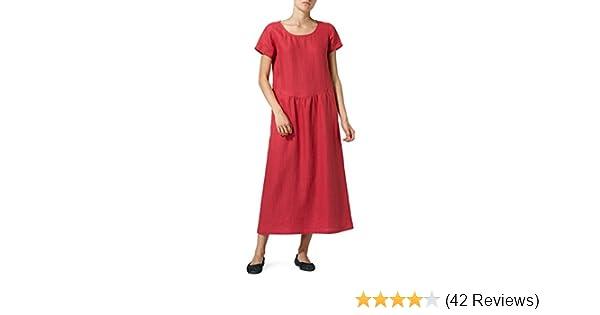 6dac8bb847 Vivid Linen Short Sleeve Dress-XS-Apple Red at Amazon Women s Clothing  store