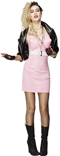Ladies 1980s 80s 90s Wild Child Rock Diva Punk Pop Icon Celebrity Hen Do Night Party Carnival Fancy Dress Costume Outfit (UK -
