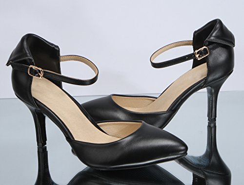 0 High Heel 3 0 Womens Office Fashion Ladies Inches 3 Sexyher Black Shoes Shoqy01b qwafU7Xx