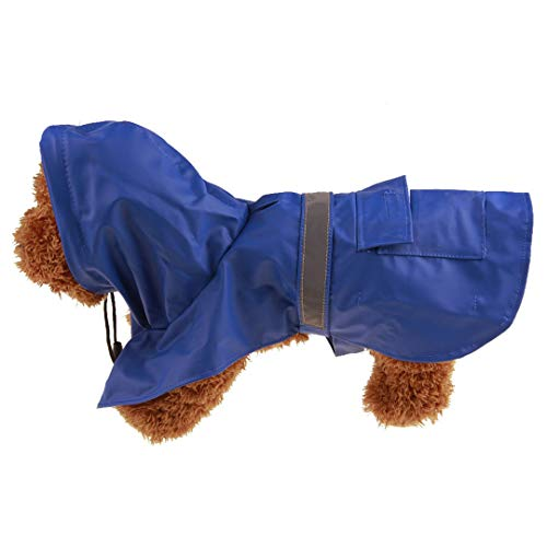 Pet Dog Waterproof Raincoat Waterproof Jacket Reflective Waistcoat Leisure Comfort Adjustable Suitable All Season