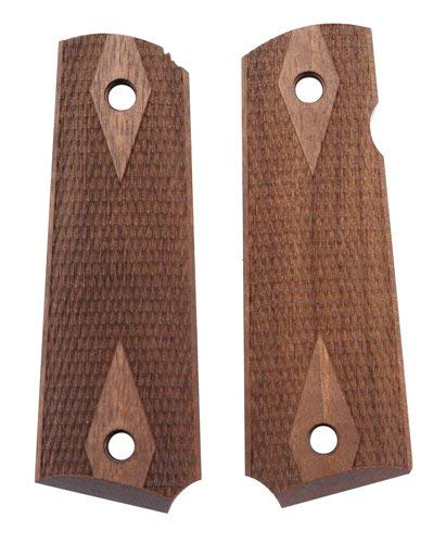 Numrich Gun Parts Colt 1911 1911A1 Diamond Checkered Walnut Grips