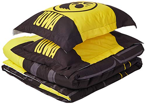 The Northwest Company Officially Licensed NCAA Iowa Hawkeyes Modern Take Full/Queen Comforter and 2 Sham Set