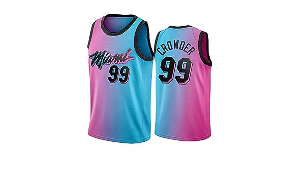 GHJK 2021 New Season - Camiseta de baloncesto Miami Heat para ...