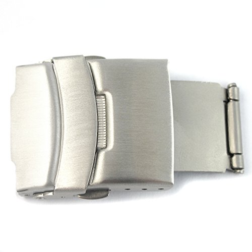YouYouPifa Push-button Stainless Steel Deployment Clasp-22mm