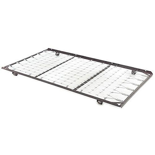 Metal Sleigh Crib (Roll-out Black Metal Trundle Unit Featuring a Stainless-steel Frame and a Wire Link (Work with Standard Twin-size Mattresses and Fit with Most Daybeds))