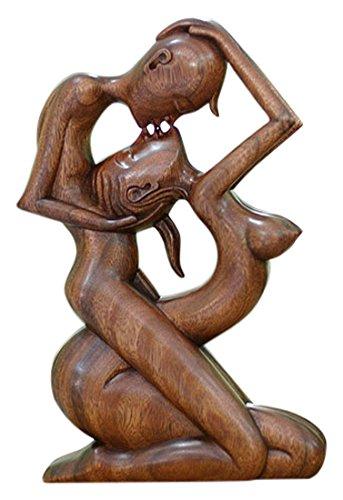 Fantastic Amazon.com: NOVICA 66610 Large Brown Romantic Suar Wood Sculpture  AQ59