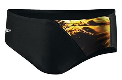 2084761014f Image Unavailable. Image not available for. Color: SPEEDO Men's Sparkler  Spliced Brief,Gold ...