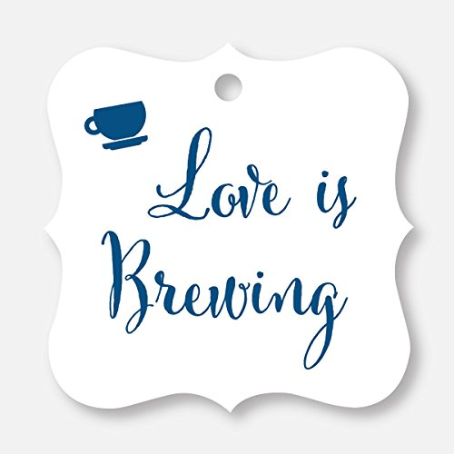 g Wedding Favor Tags, Beer, Teapot, Coffee Cup (FS-095-NV) (Grass Fs)