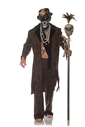 Underwraps Men's Witch Doctor Costume, Brown, Double X-Large ()