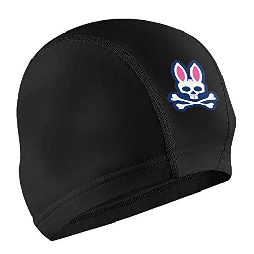 Goodxu Psycho Bunny Swim Cap One Size Hat Fit Both Long Hair Short Hair -