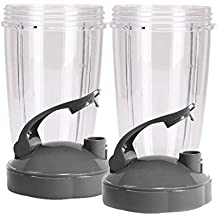 Blendin Flip Top To Go Lip with 24oz Tall Cup for Nutribullet (2 Pack)