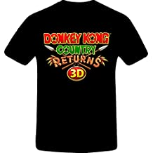 Donkey Kong Country, Custom Tshirt (L, BLACK)