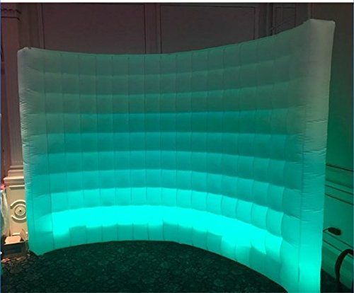Photo Booth Backdrop Wall - Inflatable Portable Photography Backdrops with LED Changing Lights for Birthday, Graduation,Wedding,Parties (9.8x6.6ft) by SUNSHINAE (Image #6)