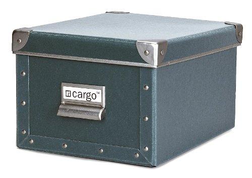 Cargo Naturals Media Storage Box, Bluestone, 6 by 10-3/4 by