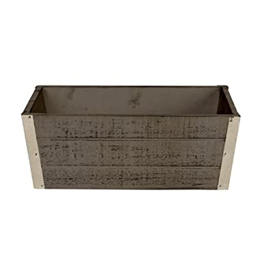 Wald Imports Graywash Wood  Decorative Crate/Planter