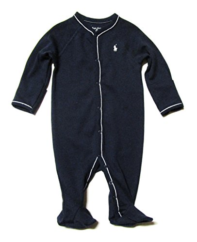 Ralph Lauren Baby Baby Boy's Interlock Solid Coveralls (Infant) French Navy Baby One Piece 0 - Ralph 0 Lauren 3 Months
