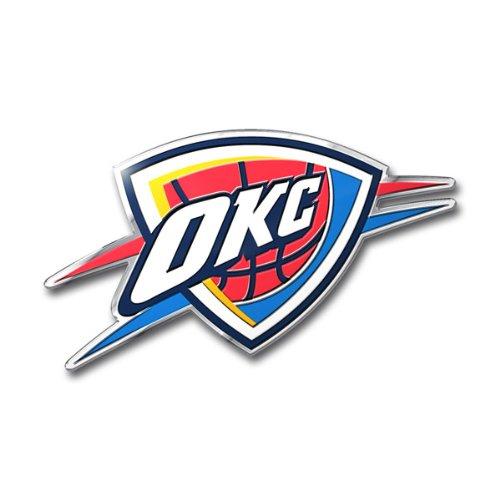 Color Chrome Auto Emblem - Oklahoma City Thunder OKC 3D COLOR Chrome Auto Emblem Home Decal Basketball