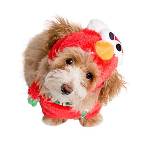 Pet Krewe PK00401S Sesame Street Santa Elmo Walking Dog Costume, Small]()