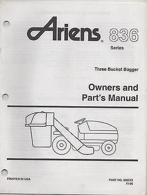 11/1995 ARIENS THREE BUCKET BAGGER P/N 036575 OWNERS & PARTS MANUAL (209)