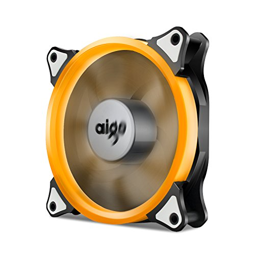 Aigo, Halo LED Ring Fan 120mm 12cm PC CPU Computer Case Cooling Neon Quite Clear Fan Mod 4 Pin/3 Pin ()