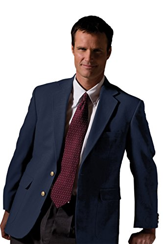 Edwards Men's Fully Lined Hopsack Single Breasted Blazer, NAVY, 46 X (Hopsack Blazer Navy)
