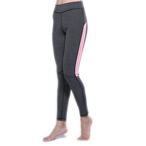 Ake Basic mujer Color Contrast Capri Yoga Running Sports Foot Pantalones Leggings S-XL Rose