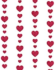 Love Paper String Decoration, 157inch Garland Decoration for Room, Classroom, Christmas, Birthday, Wedding, Party, Restaurant (Red)