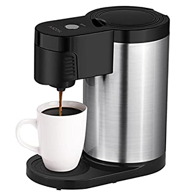 Aicok Single Serve Coffee Maker, Stainless Steel Coffee Machine for Most Single Cup Pods Including K-Cup Pods, Quick Brew Technology from Aicok