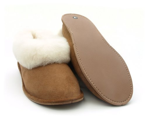 Mens Womens Portuguese Traditional Sheepskin Slippers Boots (EU42/UK8) sGYWl0YM