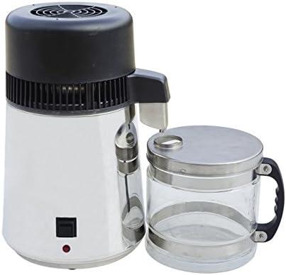 304 Acero inoxidable Water Distiller 4L Pure Purificador de agua ...