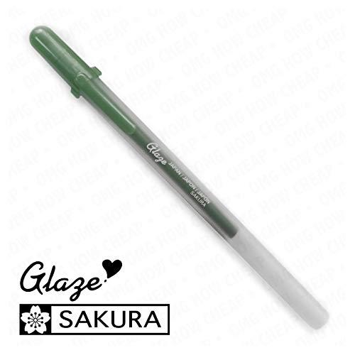 Sakura Glaze - 3D Glossy Bold Roller Pen - 3 Pack - Deep Green #834]()