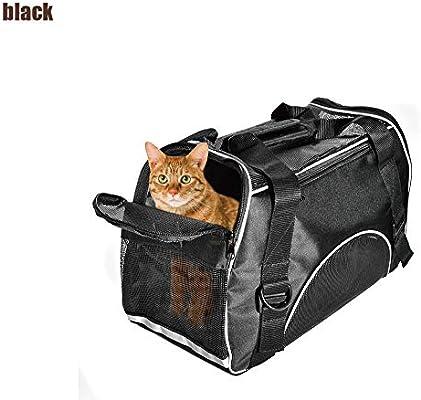 Portador de mascotas para perros pequeños, perros y gatos, bolsa de viaje para cachorros de lados suaves, aprobada por la aerolínea, con paneles de malla y cama | Perfact para Under 5