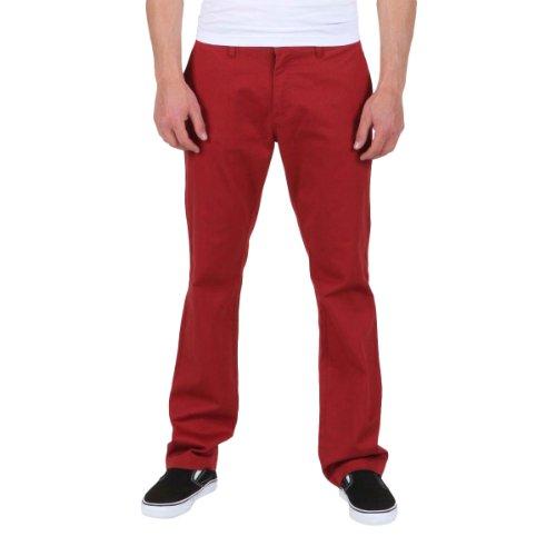 Volcom Men's Frickin Modern Stretch Pant, Brick, 32
