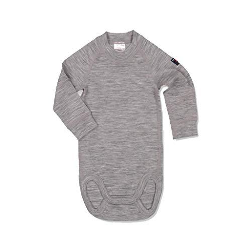 Polarn O. Pyret Merino Wool Bodysuit (Newborn) - Greymelange/0-2 Months (Suit Merino Wool)