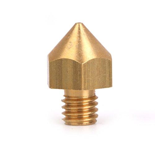 0.5mm Cuivre Buse Tete D'impression Pour Le Filament De 3mm 3d Imprimante Extrudeuse d'Or