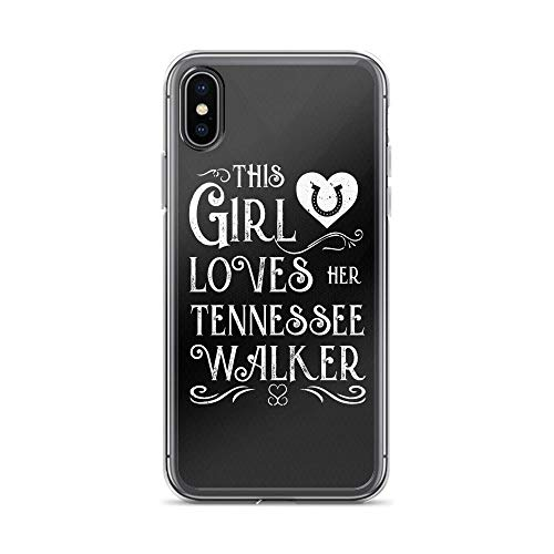 (iPhone X/XS Pure Clear Case Cases Cover This Girl Lover Her Tennessee Walker Horse TPU Plactic Compatible Cover)