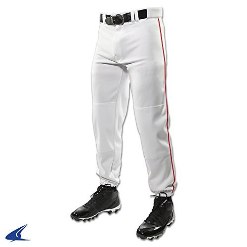 Champro Youth Triple Crown Dugout Baseball Pant with Braid B01I0J567O X-Large|ホワイト/スカーレット ホワイト/スカーレット X-Large