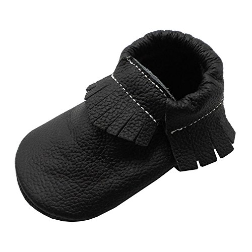 Baby Tassel Soft Leather Shoes boys girls sandal Infant Kids Crib Toddler First Walkers Moccasin (Soft Kid Leather)