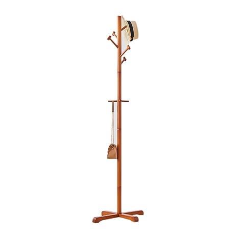 Amazon.com: LiChenYao Household Coat Rack Wooden Hanger ...