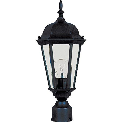 (Maxim 1001BK, Westlake Cast, 1 Light Outdoor/Post Lantern, Black)