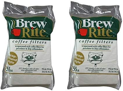 Brew Rite Wrap Around Style Coffee Maker Paper Filters 41-551 110 Ct