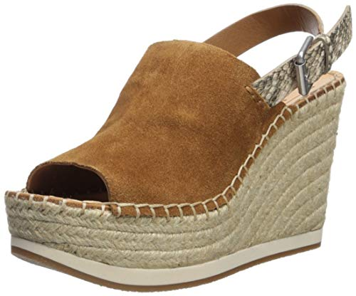 Dolce Vita Women's SHAN Espadrille Wedge Sandal saddle suede 6.5 M -