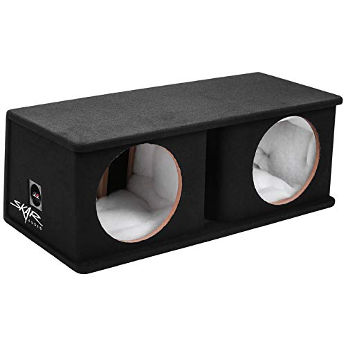 Skar Audio SK2X12V Dual 12″ Universal Fit Ported Subwoofer Enclosure
