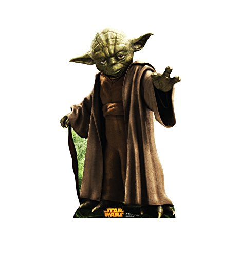 (Advanced Graphics Yoda Life Size Cardboard Cutout Standup - Star Wars Classics Retouched )