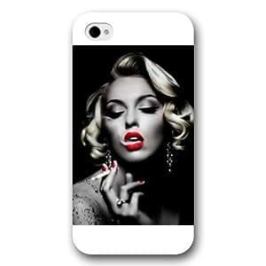 UniqueBox - Customized White Frosted iPhone 4/4s Case, Marilyn Monroe iPhone 4s case, Marilyn Monroe iPhone 4 case WANGJING JINDA