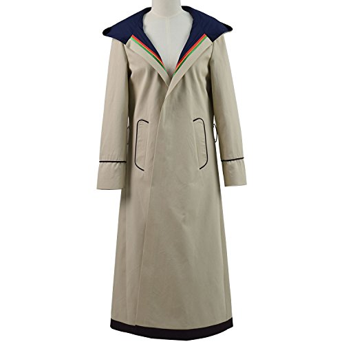 VOSTE Who Is Doctor thirteenth 13th Dr. Cosplay Costume Beige Coat For Women (Custom-Made, Beige) by VOSTE